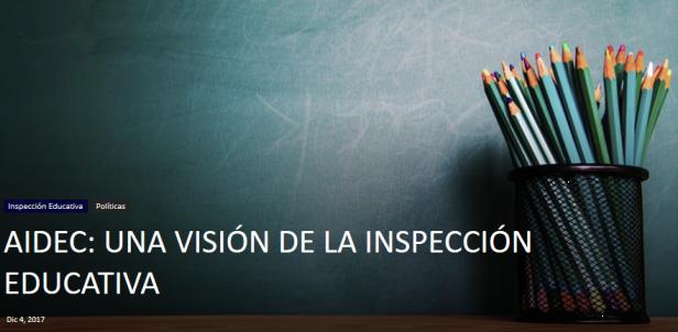 AIDEC: Una visión de la inspección educativa